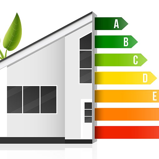 Home energy efficiency rating, smart eco house.